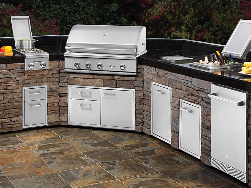 Kitchen Island Kegerator custom outdoor kitchen islands | hearth and home shoppe