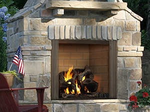 Outdoor Wood And Gas Fireplaces