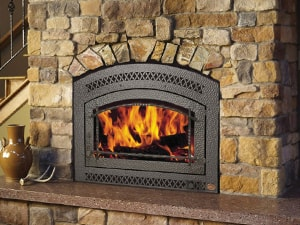A Wood Burning Fireplace