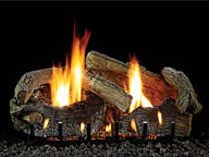White Mountain Hearth - Stacked Aged Oak - Vent Free